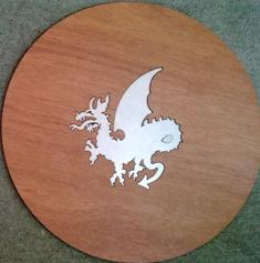 Inset Dragon Profile (Stainless Steel inside Wood)