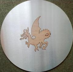 Dragon Profile (Wood inside Stainless Steel)